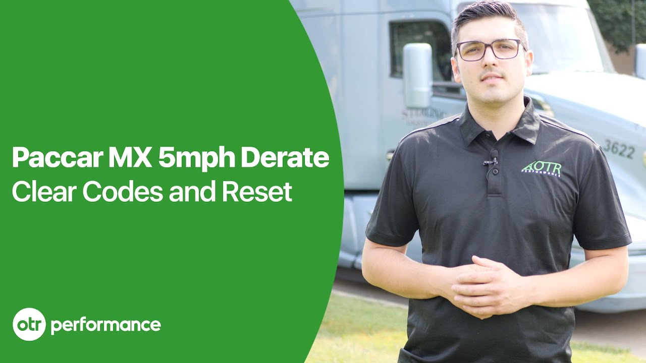 Paccar Clear 5 MPH DEF Derate & EGR Derate without Davie4 | Paccar MX11  MX13 | OTR Performance