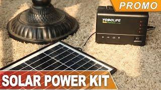 SOLAR PANELS, POWER INVERTER, HUGE POWERBANK with LED lighting system - buy at banggood