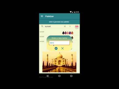 Color transfer algorithm, Android app