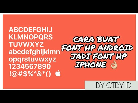 CARA UBAH FONT ANDROID JADI FONT IPHONE! (FONT IPHONE FOR ANDROID) NO ROOT #1