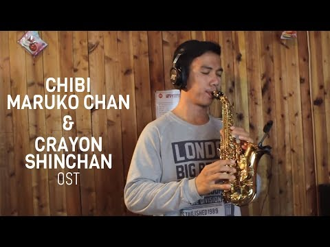 Medley OST Chibi Maruko Chan & Shinchan - curved soprano saxophone cover by Desmond Amos
