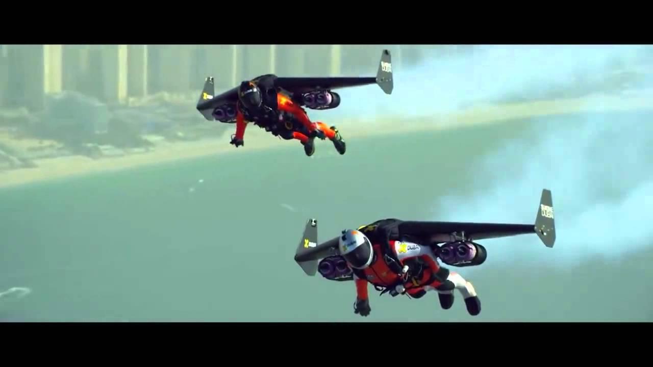 Jet pack flying in Dubai