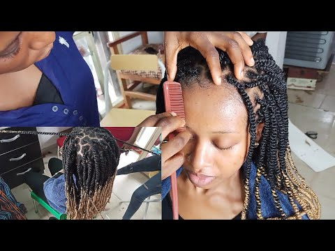 Nigerian Salon Visit/Kinky Twists Protective Style on 4c Natural Hair