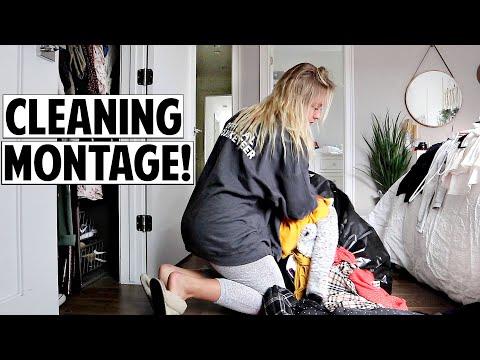 Massive Closest Cleaning Montage + Closet Tour! | Ashley Nichole