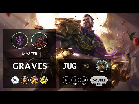 Graves Jungle vs Olaf - KR Master Patch 9.21