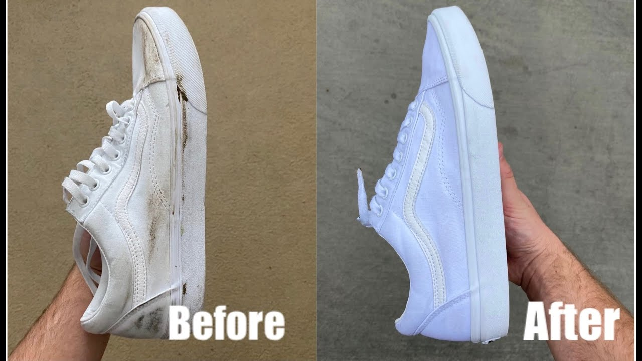 HOW TO CLEAN YOUR WHITE VANS AT HOME
