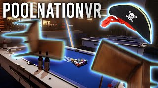 He could hear me the whole time?! (Multiplayer Pool Nation VR!)