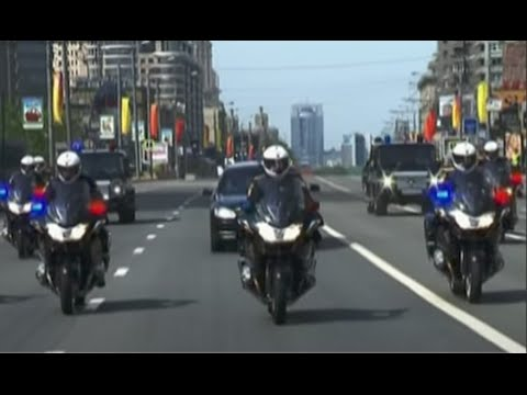 President Putin Police Escort to the Kremlin