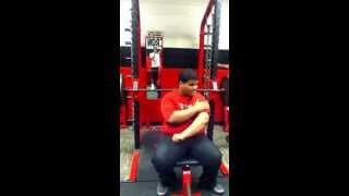 My boi cyle hills 8th grader at McBee high school benching  245lbs