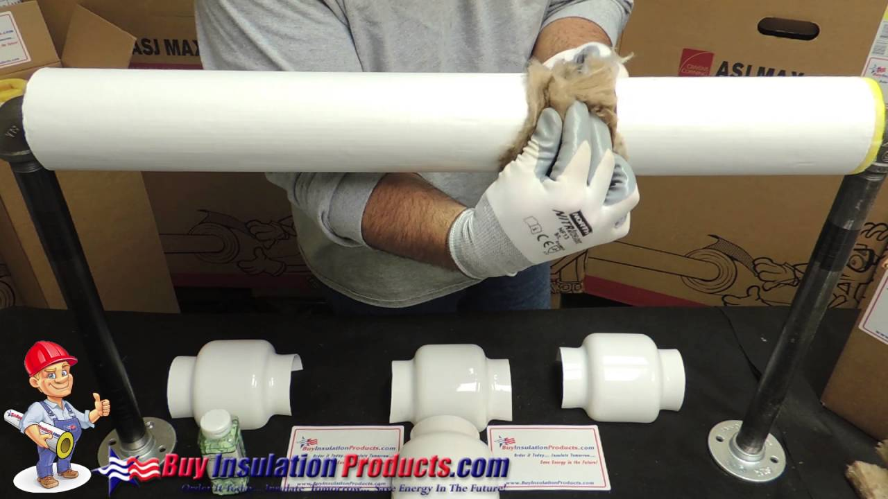How to Insulate a Pipe Union with a PVC Union Cover - YouTube