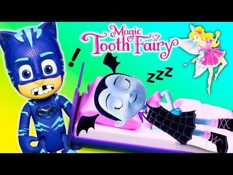 MAGICAL TOOTH FAIRY Game Vampirina against PJ Masks Catboy and Scooby Doo Toys