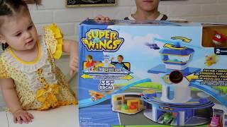 Super Wings Супер крылья НАБОР АЭРОПОРТ РАСПАКОВКА И ОБЗОР Видео для детей #СуперКрылья
