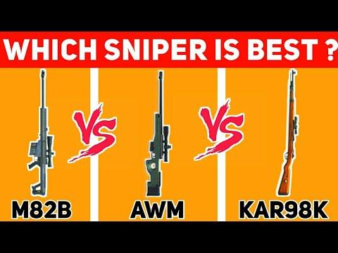 M82B VS AWM VS KAR98K || WHICH IS BEST SNIPER IN FREE FIRE || FULL COMPARISION