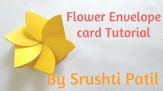 Flower envelope card Tutorial by Srushti patil