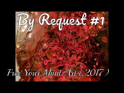 Fluid Art Acrylic Painting ' By Request #1  '  Stuart Wimbles Free Your Mind Art (2017)
