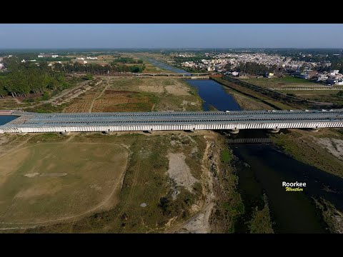 Upper Ganga Canal down solani river Roorkee aerial view watch this video