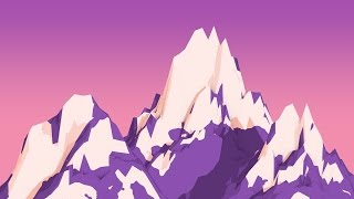 Cinema 4D Tutorial - How to Create 2D Mountains in Cinema 4D