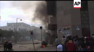 Tense standoff outside Suez police station clashes injured in capital