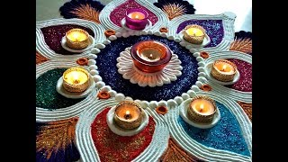 Super Attractive and Beautiful Deepawali Rangoli Designs|Creative Rangoli by Shital Mahajan.