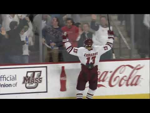 Three third-period goals propel No. 1 UMass to 3-1 win against No. 8 Quinnipiac in front of sellout crowd at Mullins Center