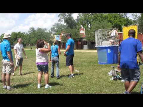 DNV-GL Family Day at Regal Ranch 2014 - Angela in the Dunk Tank Vid 2