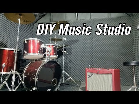 How to Make Cheap Soundproof Music / Recording Studio in a Shed / Room