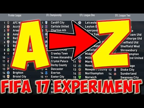 WHAT IF THE ENGLISH TEAMS WERE IN ALPHABETICAL ORDER? - PART 1 - FIFA 17 CAREER MODE EXPERIMENT