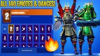 *NEW* SHOGUN SKIN SHOWCASE WITH ALL 140 FORTNITE DANCES & NEW EMOTES!