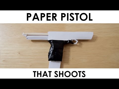 How to make a Paper Gun that Shoots - With...