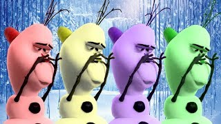 Frozen Funny Moment || Learn Colors with Frozen Anna Kristoff Olaf and Sven - FUN KID COLORS