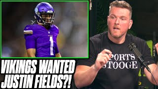 Pat McAfee Reacts To Report The Vikings Wanted To Draft Justin Fields
