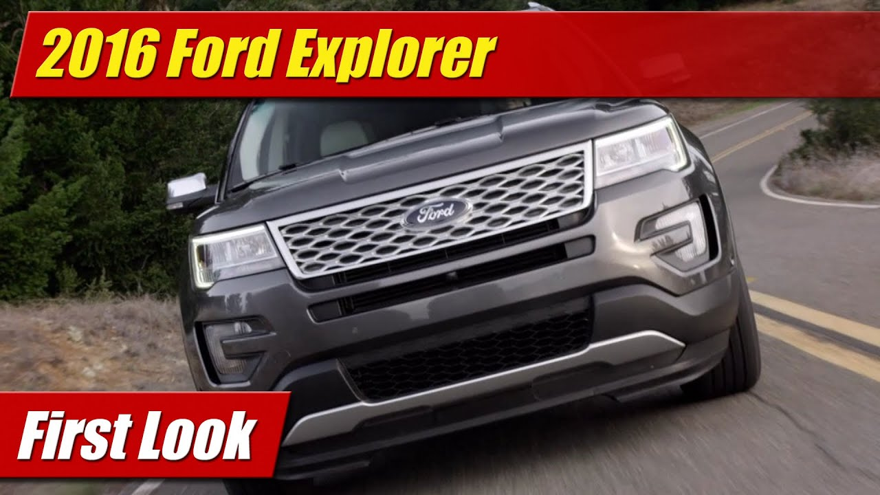 Simple First Look 2016 Ford Explorer  Doovi