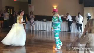 gig log Barone wedding Akron (bride falls)