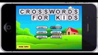 Crosswords Game For Kids Iphone/iPad App For Children