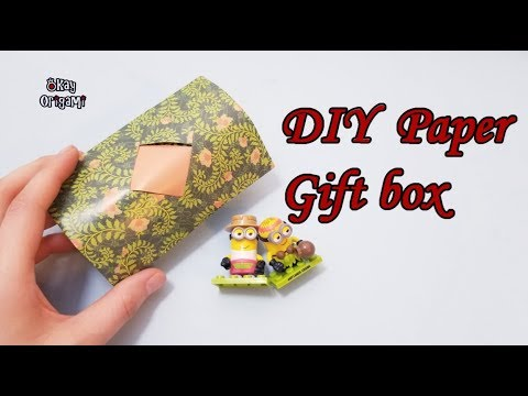 Okay! ll Origami Paper gift box, gift wrap. Papel de regalo, ギフト包装, 선물 포장