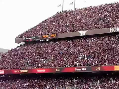 """Texas A&M 12th Man """"Shift"""" / """"Migration"""" During 3rd OT versus Fresno State 2007"""