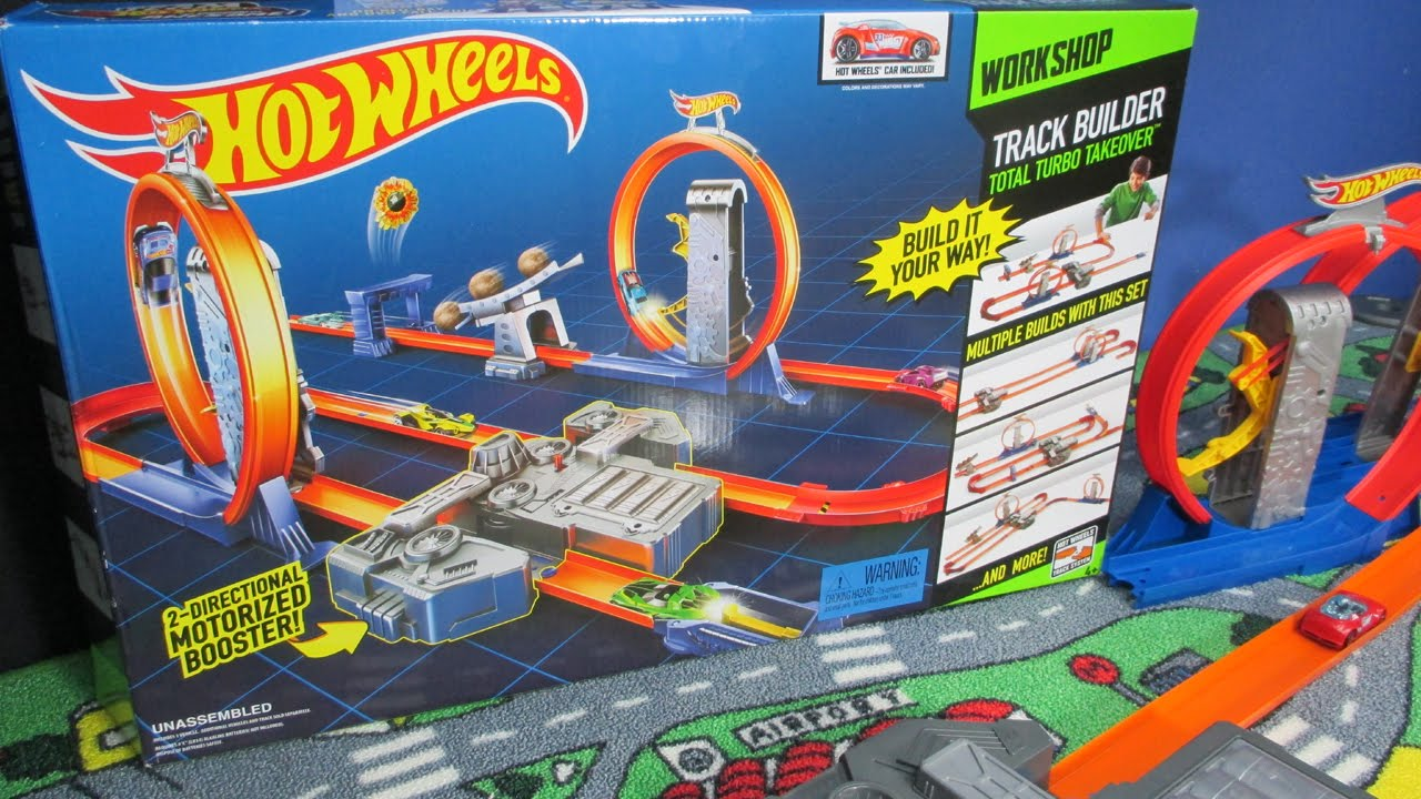 Track Builder Total Turbo Takeover Hot Wheels Track System Review