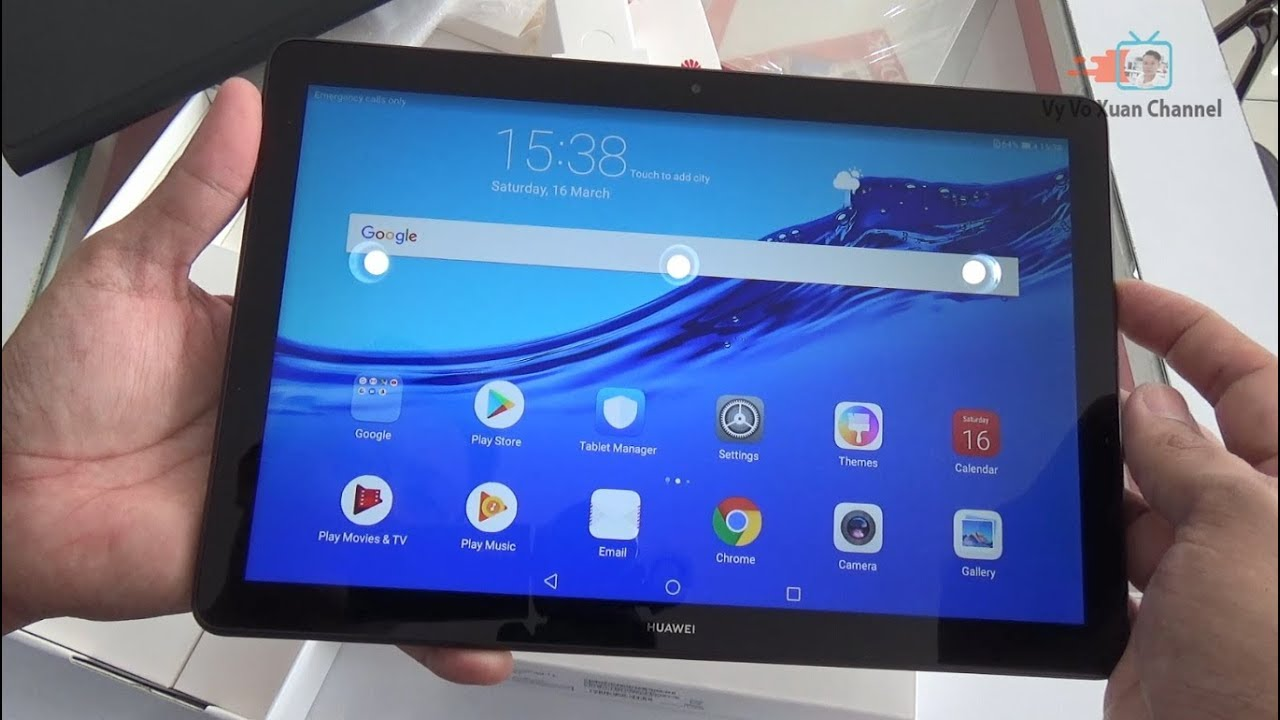 Unboxing Huawei Mediapad T5 10 1 inch black color