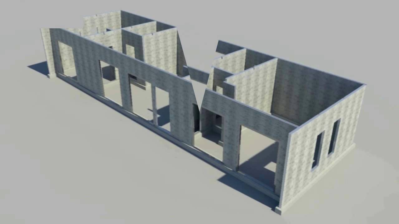 3d video house with foam cement panels in walls and eps for Foam panel house