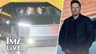 Elon Musk Takes The New Tesla Truck Out For A Night On The Town | TMZ Live