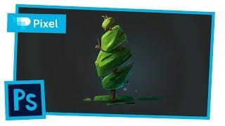 Рисуем дерево в Adobe Photoshop | уроки для новичков