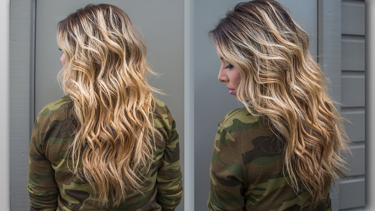 How To Perfect Beach Wave Hair Youtube