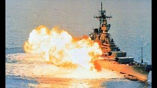 USS Missouri Firing All 9 - 16