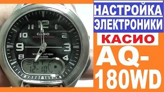 Параметри Casio AQ-180W інструкція з управління електронікою