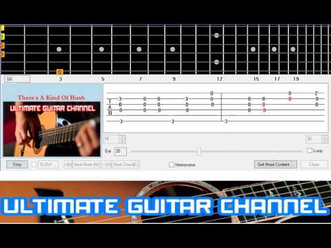 Guitar Solo Tab Theres A Kind Of Hush Carpenters Youtube