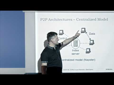 CCE 3110 - Week 9 | Lecture 13: Peer-to-peer Networks - David Gamez
