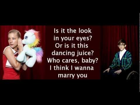Glee - Marry You (lyrics)