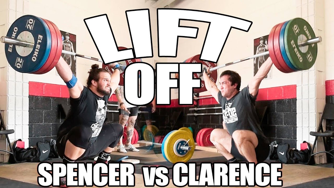 CLARENCE KENNEDY vs SPENCER MOORMAN: Weightlifting Battle (180kg/397lb Snatch)