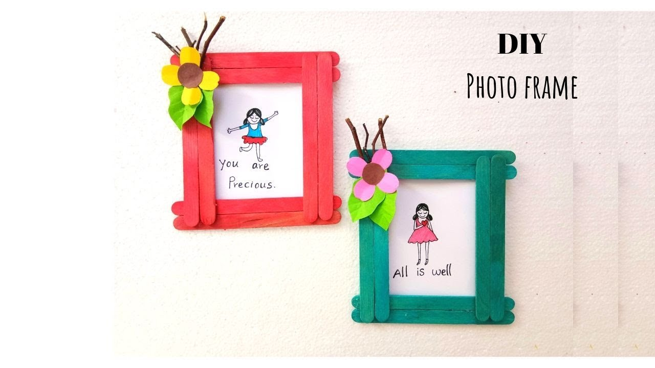 Photo Frame Idea from Ice Cream Sticks | Best Out of Waste | DIY ...
