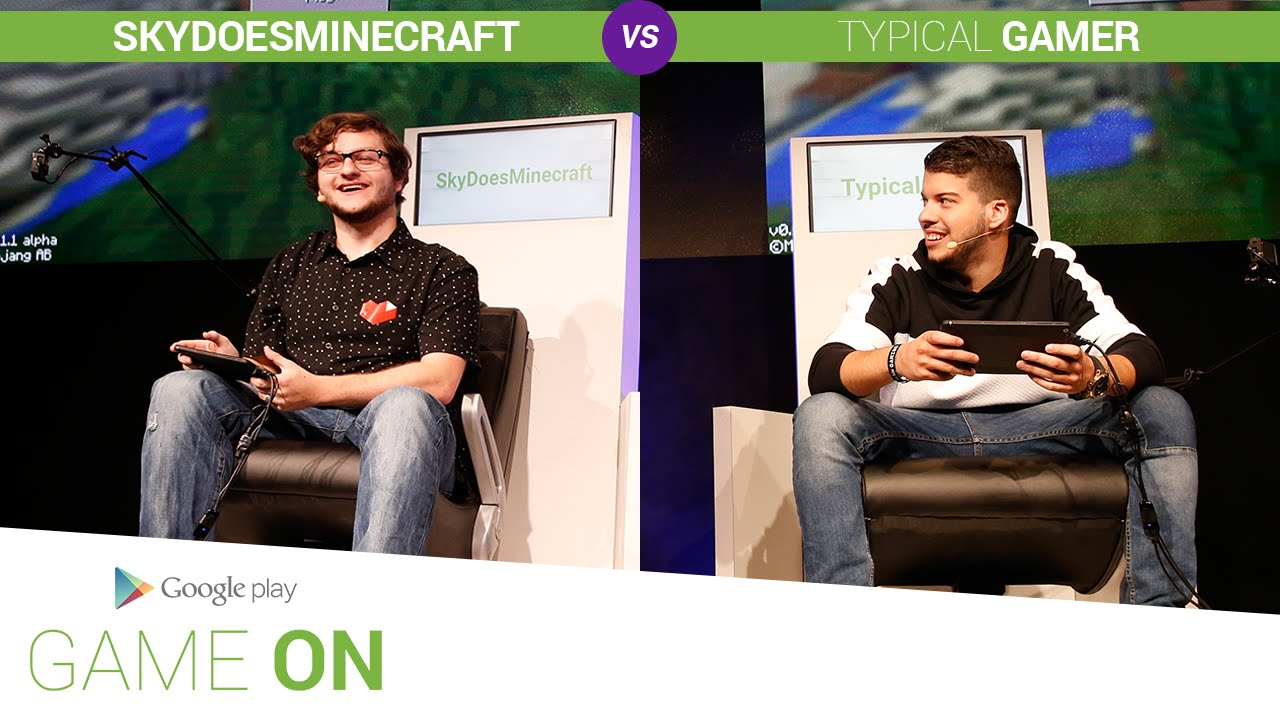 Google Play: Game On // SkyDoesMinecraft vs. Typical Gamer [Minecraft: Pocket Edition]